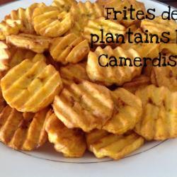 Frites de plantains mûrs
